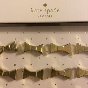 "Kate Spade Cute Gold Bow 1/2"" Push Pins 24 count"